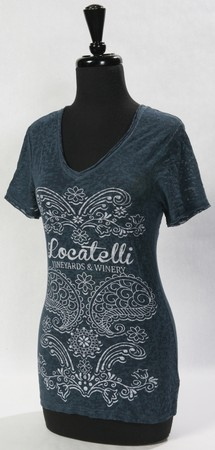 WOMEN'S HEART T BLUE