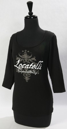 WOMEN'S 3/4 SLEEVE BLACK